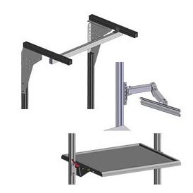 Accessoires du poste de travail pour profilé aluminium