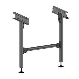 Piétement aluminium du portillon à rouleaux motorisés