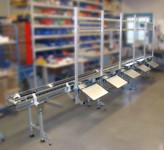Convoyeur profilé aluminium avec aménagements