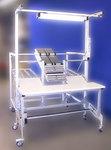 Poste de travail alu hauteur réglable avec approvisionnement dynamique et préhension ergonomique