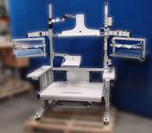 Poste de travail TPALE300 simple cadre en profilé aluminium avec bras articulés